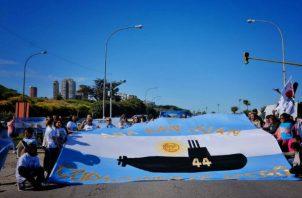 Sus familiares se manifestaron en Mar del Plata (Argentina). Foto: EFE