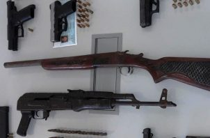 Armas de fuego de todo tipo han sido incautadas este año por la Policía Nacional en el territorio panameño.