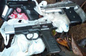 Durante el mes de junio se han decomisado 10 armas de fuego y en lo que va del año van 68 armas de fuego ilegales sacadas de circulación en la provincia de Chiriquí. Foto/José Vásquez