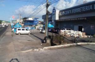 Lugar donde se resgistró el accidente en Vista Alegre de Arraiján.