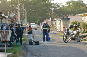 En el tiroteo registrado en Arraiján resultaron heridas otras dos personas.