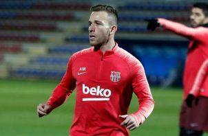 Arthur Melo durante un entrenamiento con el Barcelona Foto @arthurmelo