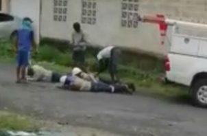 El robo fue captado en un video. Foto: Diómedes Sánchez S.