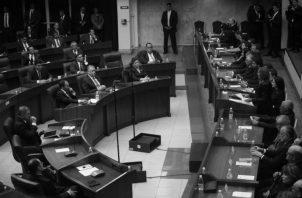 La negativa de la Asamblea Nacional de discutir y aprobar el proyecto de ley 591, que declara delito penal la evasión fiscal, creó alarma entre los sectores dominantes del país Foto: Víctor Arosemena/EPASA.