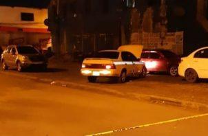 Vehículo en la escena del crimen. Foto. Diómedes Sánchez S.