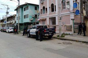 El crimen fue entre las calles 9, avenida Meléndez y Santa Isabel.  Foto: Diómedes Sánchez S.