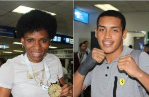 Atheyna Bylon, en los 69 kilogramos y Orlando Martínez en los 60, lograron su boleto a los Panamericanos. Foto Cop