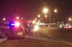 El accidente se registro en la vía con dirección a la ciudad capital. Foto: Eric A. Montenegro.