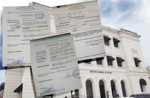 Resoluciones de aumentos salariales de hasta  por $600 para algunos funcionarios del Instituto Nacional de Cultura. /Foto Cortesía
