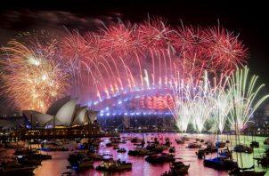 Australia, celebró a lo grande la llegada del 2019. FOTO/AP