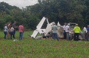 El accidente aéreo que sufrió el pasado sábado 21 de septiembre, cuando la avioneta HP1760 en la que viajaba se prescipitó a tierra a media milla al norte del aeropuerto Augusto Vergara en Guararé.