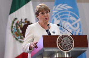 """Michelle Bachelet dijo que los números de crímenes del país eran """"aterradores"""" y destacó que """"México tiene cifras de muertes violentas propias de un país en guerra: 252.538 desde 2006"""". FOTO/EFE"""