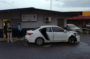 Seis impactos de bala recibió este vehículo. Foto: Eric A. Montenegro.