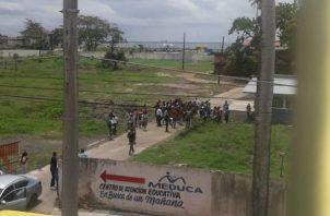 El altercado fue cerca al Instituto Rufo A Garay y el colegio Jose Guardia Vega. Foto: Diómedes Sánchez S.