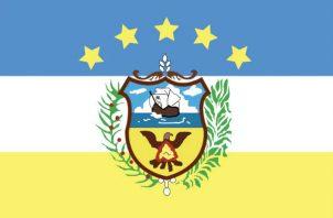 Actual bandera de la provincia de Colón. Foto: Diómedes Sánchez S.