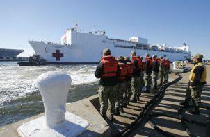 Foto archivo del USNS Comfort. Foto: AP.