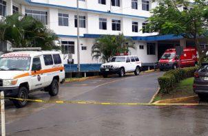 El herido está hospitalizado en el Hospital Rafael Hernández de David. Foto: José Vásquez.