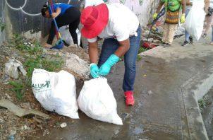 Operativo de limpieza en San Miguelito.