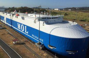 El Beluga Ace cuenta con capacidad para 6,700 vehículos.Foto: Canal de Panamá