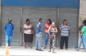 Exigen dialogar con las altas autoridades de la Lotería Nacional de Beneficencia. Foto/Diómedes Sánchez