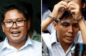 Ambos reporteros de la agencia Reuters fueron hallados culpables el pasado 3 de septiembre de vulnerar la Ley de Secretos Oficiales, una norma de la era colonial.
