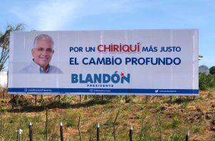 Propaganda de José Isabel Blandón.