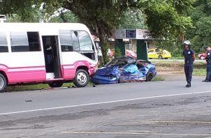 Según las estadísticas del Tránsito y Transporte Terrestres de la Policía Nacional van 24 muertos por accidente de tránsito en Chiriquí en lo que va del año 2019.
