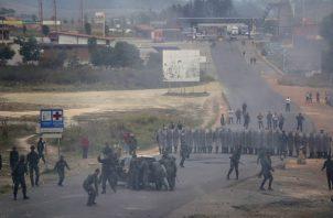 El fin de semana hubo una fuerte tensión en el área fronteriza entre Brasil y Venezuela. FOTO/AP