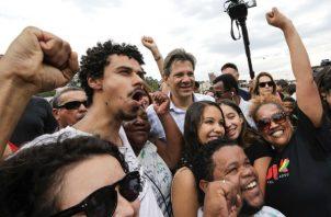 El candidato del PT, que continuó este sábado con su agenda de campaña para la segunda vuelta en la mayor ciudad de Brasil.