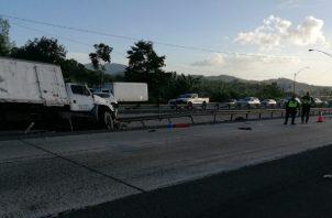 Lugar donde se registró el fatal accidente a la altura de Burunga, en la vía Centenario.