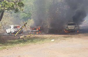 Se conoció que no hubo heridos producto del incendio.Foto/Melquiades Vásquez
