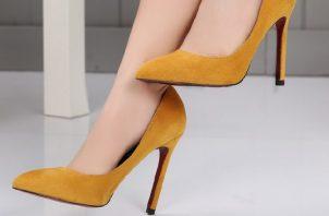 La clave para un buen zapato de tacón está en la altura.  Fotos: WEB