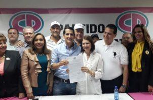 Expresidente Ricardo Martinelli es postulado como candidato a la Alcaldía de Panamá por Cambio Democrático. Foto: Panamá América.