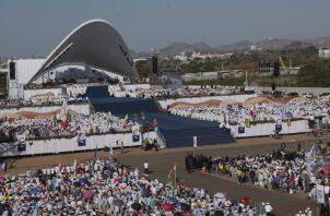 Metro Park, conocido como Campo San Juan Pablo II, congregó a más de 700 mil personas para la última eucaristía de la Jornada Mundial de la Juventud. Víctor Arosemena