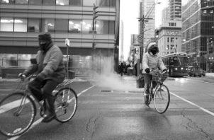 Las autoridades de la ciudad de Montreal en Canadá invirtieron $134 millones para generar un ambiente más agradable para los ciclistas.Foto:EFE