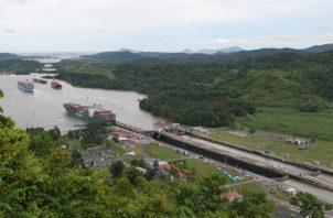 Los lagos del Canal de Panamá están también  afectados por la falta de lluvias. Archivo