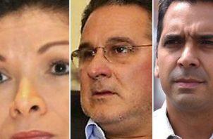 Ana Matilde Gómez, Marco Ameglio y Ricardo Lombana lideraron la recolección de firmas.  Archivo