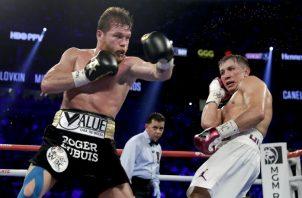 Segundo pleito entre 'Canelo' Álvarez y Gennady Golovkin. Foto AP