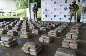 Los 612 kilos de droga incautados en Capira se encontraban embalados en 14 sacos.