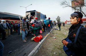 Este fin de semana el principal contingente abandonó por completo la Ciudad de México, donde descansaron casi una semana.