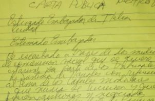 Carta de Martinelli dirigida al embajador de Italia en Panamá. Twitter