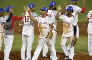 Jugadores de Panamá festejan. Foto:EFE