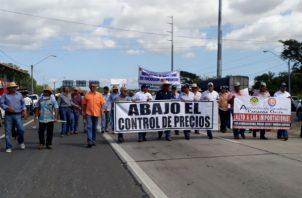 Varias protestas ya han realizado los productores. Foto: Thays Domínguez.