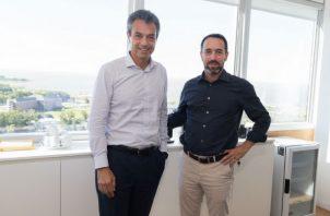 Carlo Enrico, presidente para Mastercard América Latina y el Caribe - Marcos Galperin CEO de Mercado Libre y Mercado Pago