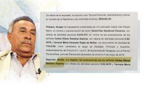 Carlos Santana no participó de la elecciones primarias de su partido.