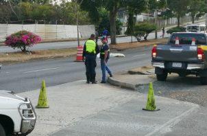 El atropello fatal fue en La Chorrera. Foto: Eric A. Montenegro.