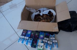 Carnes y cigarrillos ilegales eran vendidos en Atalaya. Foto: Melquíades Vásquez.