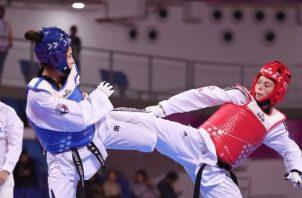 Carolena Carstens durante su actuación en los Juegos Panamericanos de Lima Foto @colimpicopanama