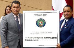 Algunos de los usuarios de las camionetas serían  Dana Castañeda, Quibián Panay  y el presidente de la Asamblea, Marcos Castillero. Ilustración de Panamá América. Foto de archivo