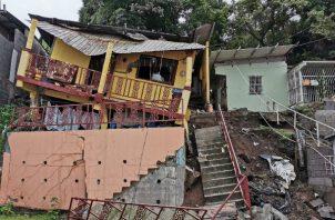 Cuatro personas afectadas tras colapso de una residencia en Los Andes. Foto: Redes sociales.